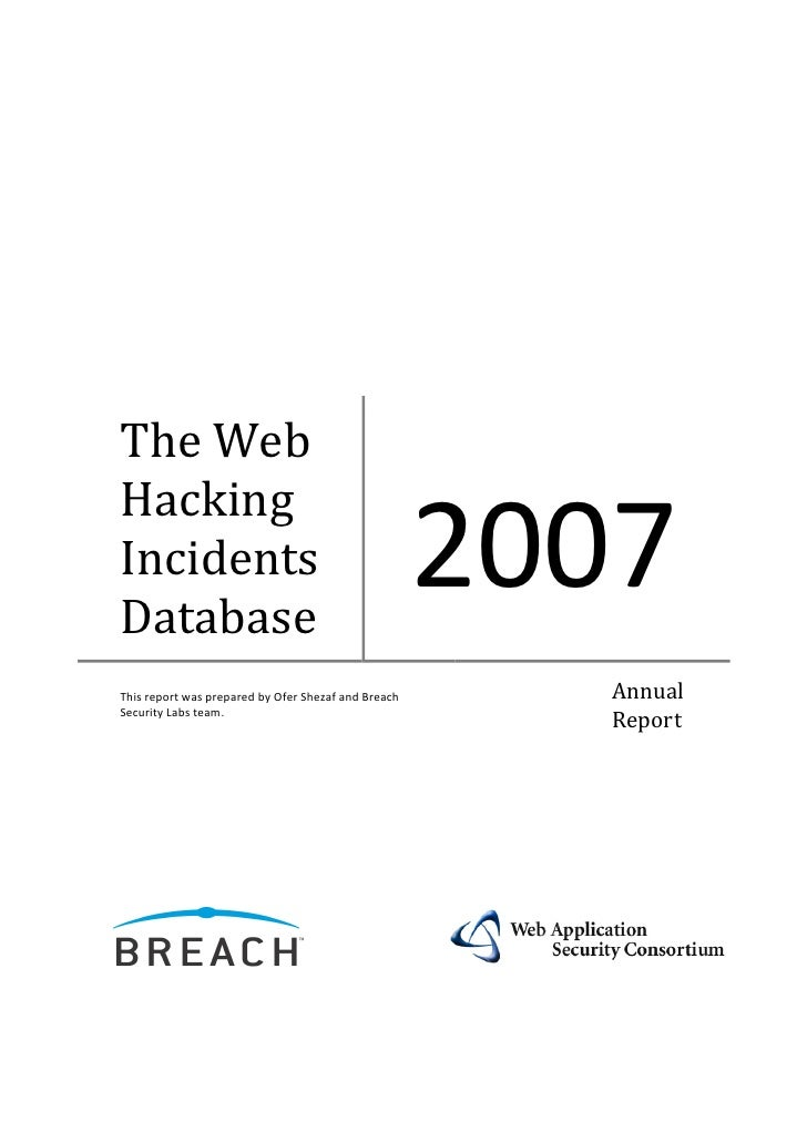 The Web Hacking Incidents Database Annual