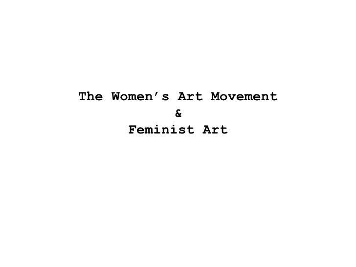 SHGC The Women's Art Movement (Realism)   Part 1