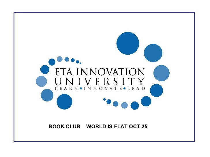 BOOK CLUB  WORLD IS FLAT OCT 25