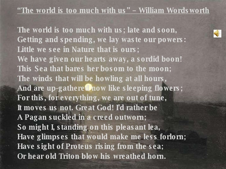 william wordsworth essay nature 12072000 william wordsworth - poet - william wordsworth, who rallied for common speech within poems and argued against the.