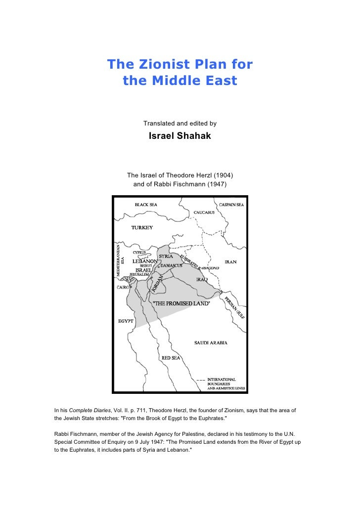 The Zionist Plan for                        the Middle East                                     Translated and edited by  ...