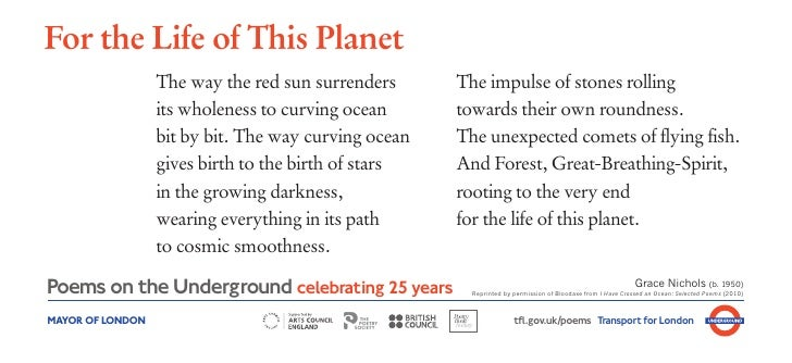 For the Life of This Planet                  The way the red sun surrenders      The impulse of stones rolling            ...