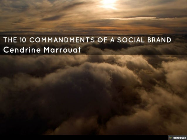 The 10 Commandments of a Social Brand