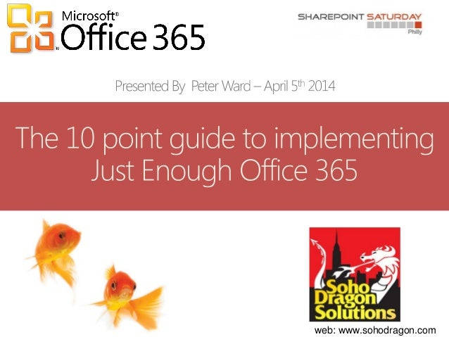The 10 point guide to implementing just enough office 365 gov