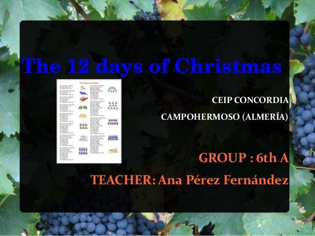 The12daysofChristmas                        CEIP CONCORDIA                CAMPOHERMOSO (ALMERÍA)                      ...