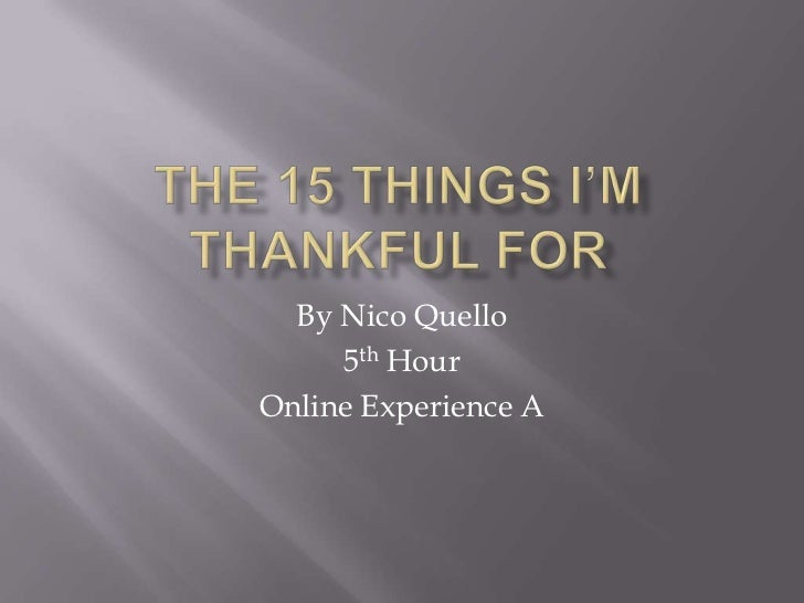 By Nico Quello     5th HourOnline Experience A