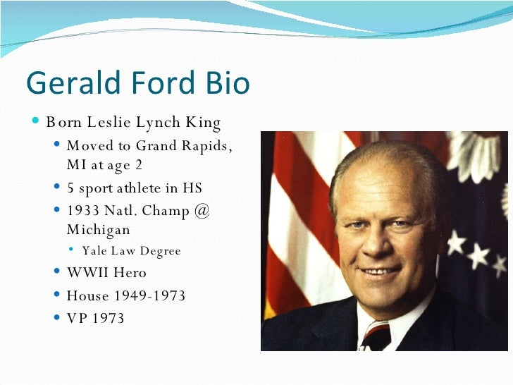 The1970s Gerald Ford