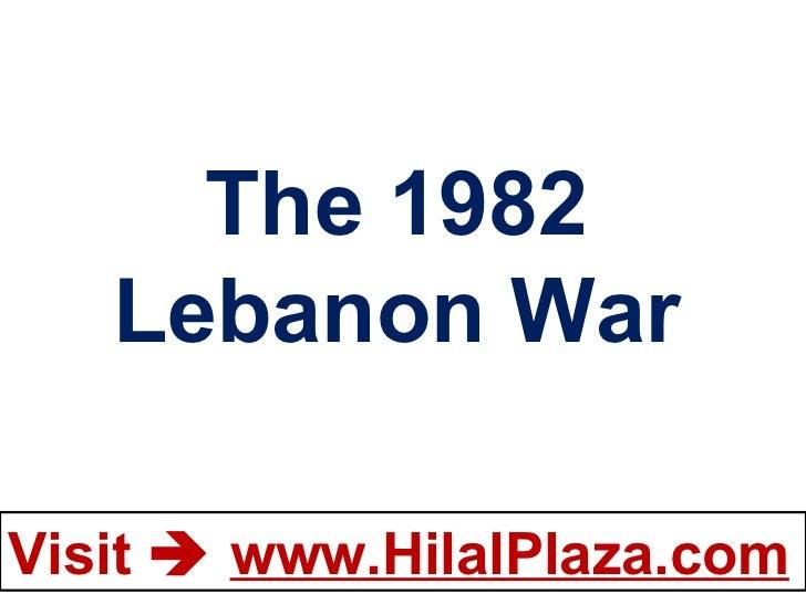 The 1982 Lebanon War