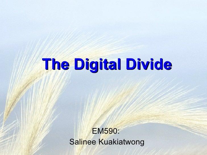 The Digital Divide EM590:  Salinee Kuakiatwong