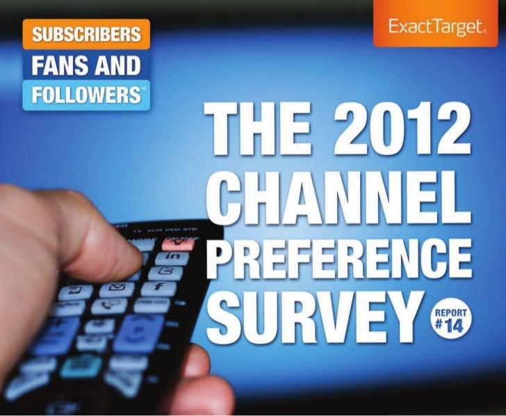 The 2012 channel preference survey web