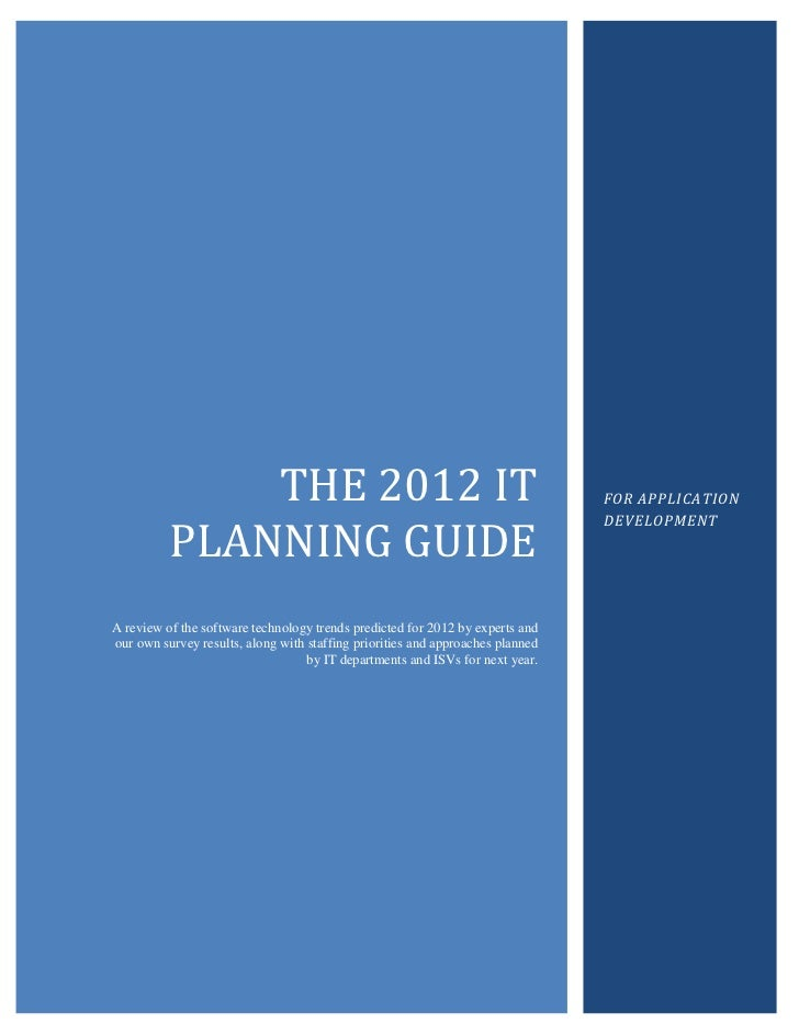 The 2012 IT Planning Guide For Application Development