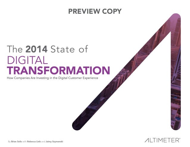 [Report] The 2014 State of Digital Transformation, by Altimeter Group