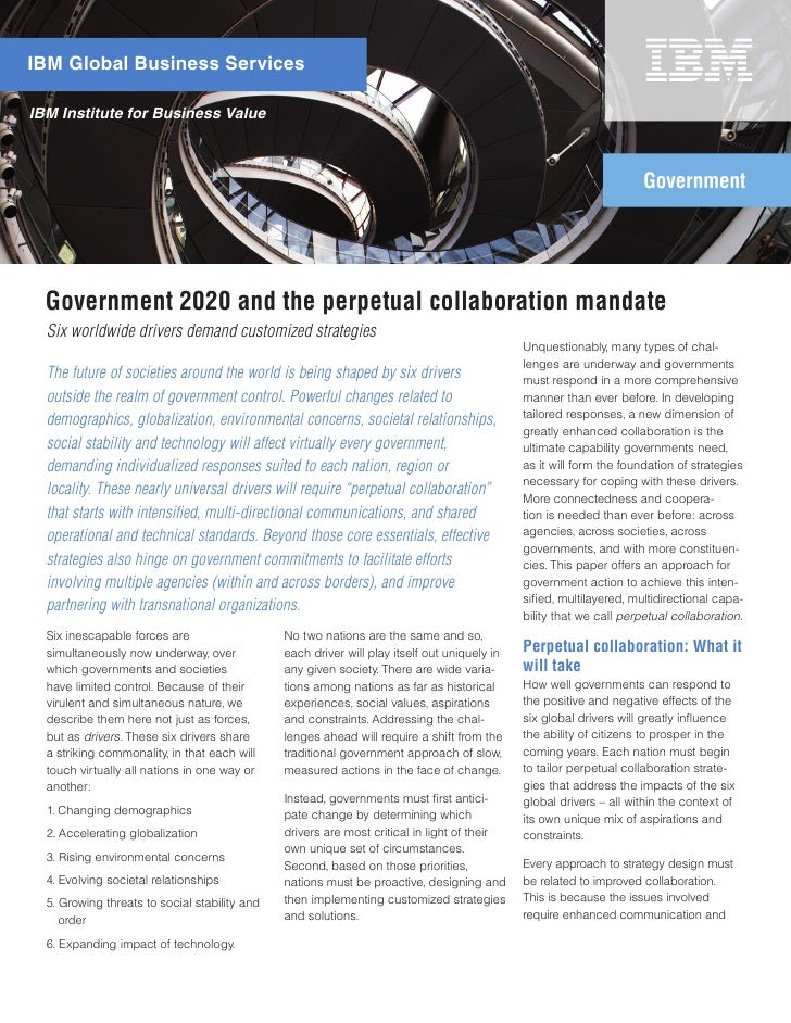 Better Government Agency Collaboration: The 2020 Perpetual Collaboration Mandate