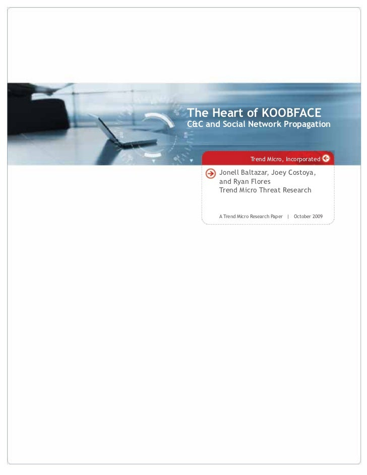 The Heart of KOOBFACE C&C and Social Network Propagation                       Trend Micro, Incorporated         Jonell Ba...