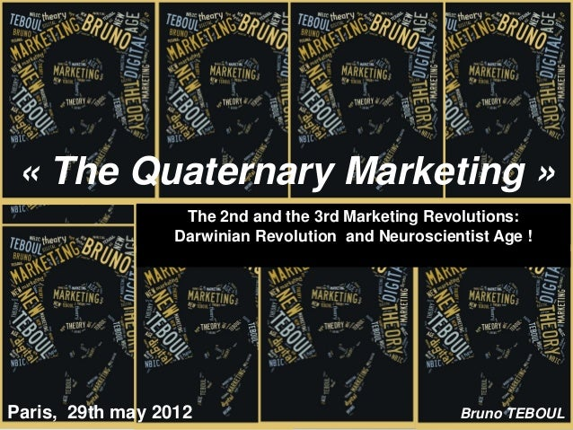 « The Quaternary Marketing »                   The 2nd and the 3rd Marketing Revolutions:                  Darwinian Revol...