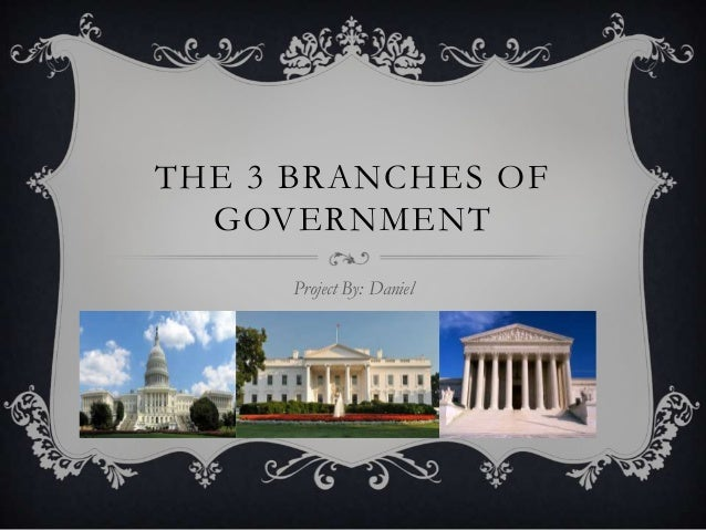 THE 3 BRANCHES OF GOVERNMENT Project By: Daniel