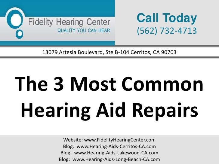 The 3 Most Common Hearing Aid Repairs
