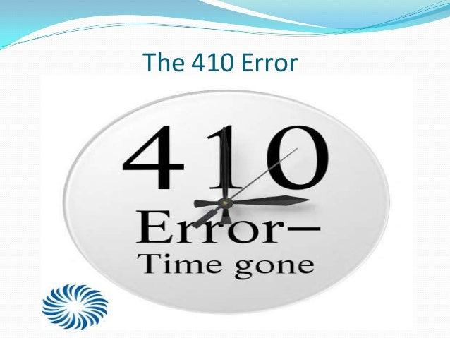 The 410 Error