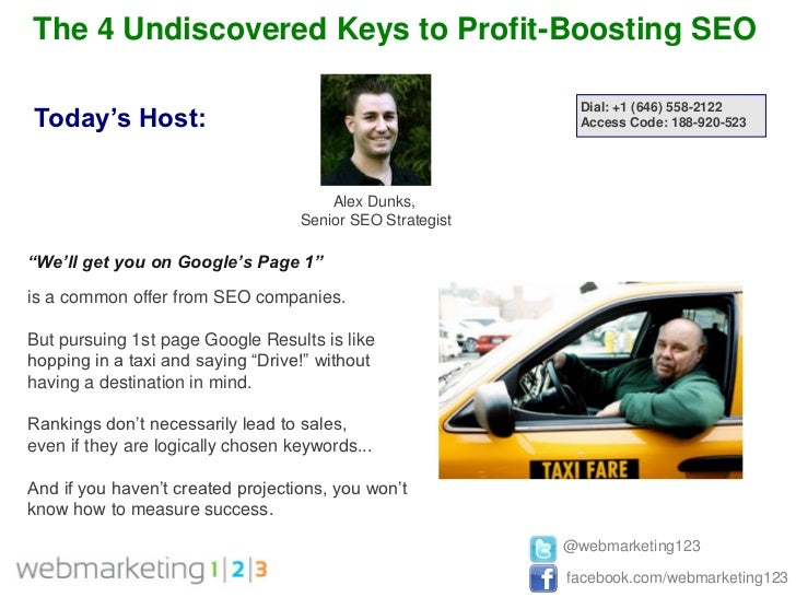 The 4 Undiscovered Keys to Profit-Boosting SEO                                                             Dial: +1 (646) ...