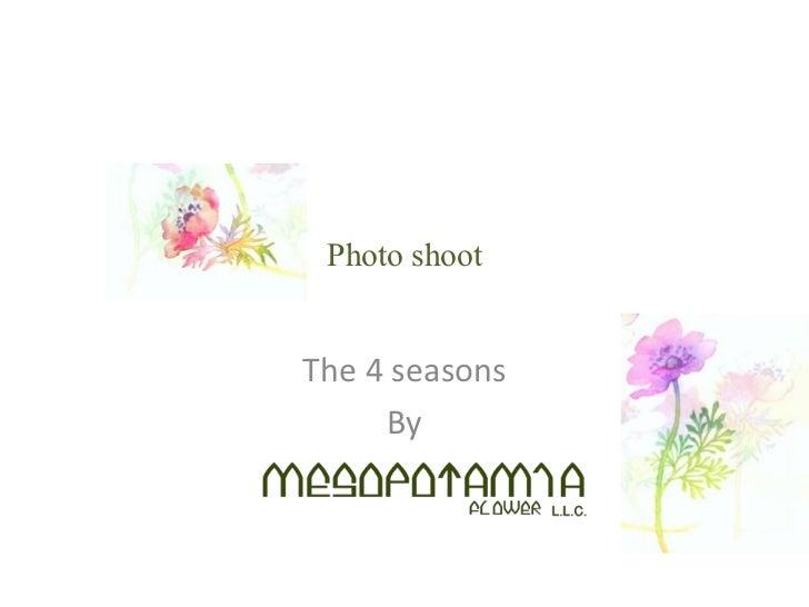 Photo shootThe 4 seasons     By