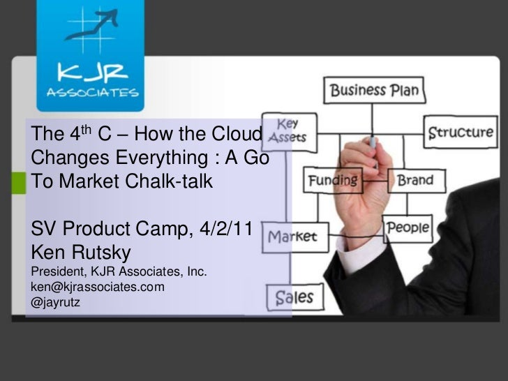 The 4th C – How the Cloud Changes Everything : A Go To Market Chalk-talkSV Product Camp, 4/2/11Ken RutskyPresident, KJR As...