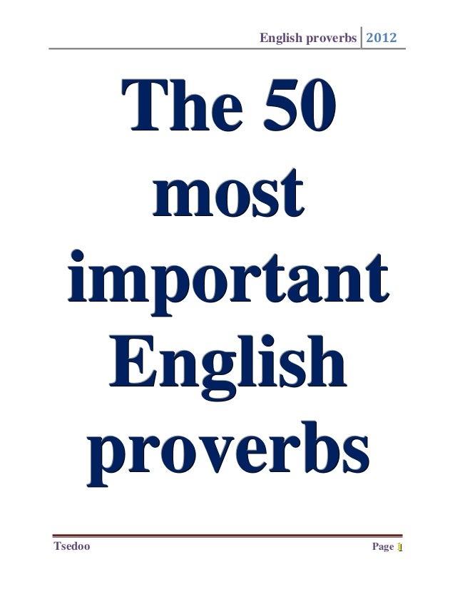 Essay on proverbs