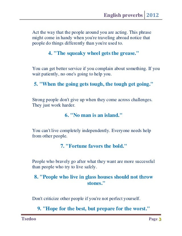 examples of idioms and phrases