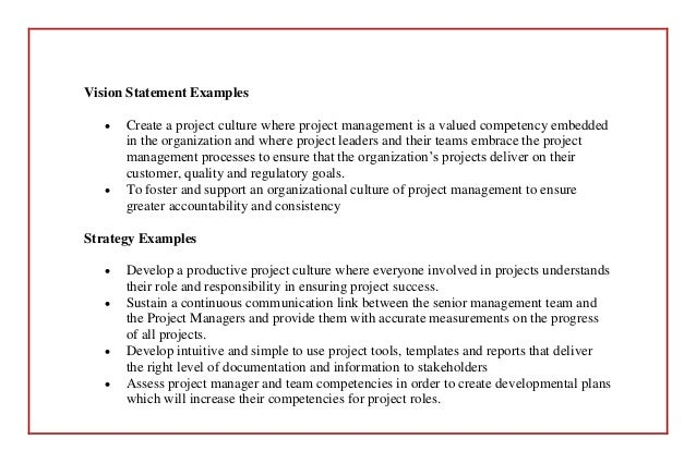 management and vision statement 43 the roles of mission, vision, and values previous a model of the impact of mission statements on firm performance management decision, 39(1), 19–35.