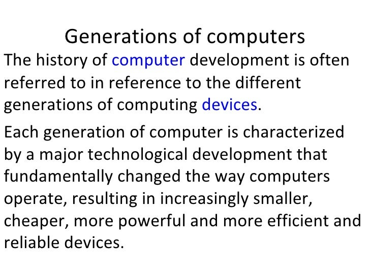 Short essay about history of computer