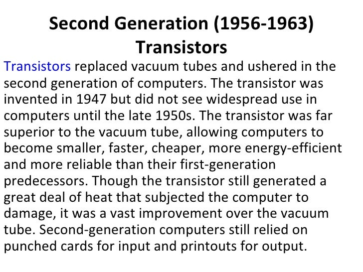 The 5 generations of computers