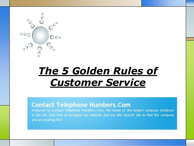 The 5 Golden Rules of Customer Service