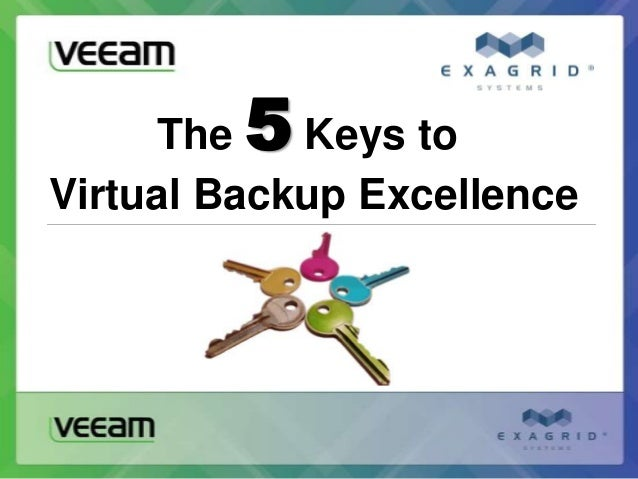 The5  Keys toVirtual Backup Excellence