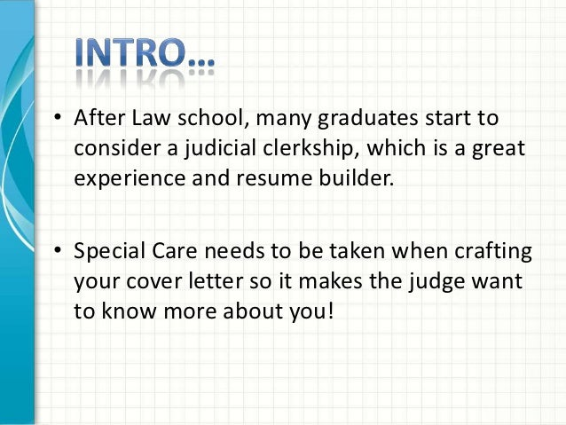 Judicial Law Clerk Cover Letter