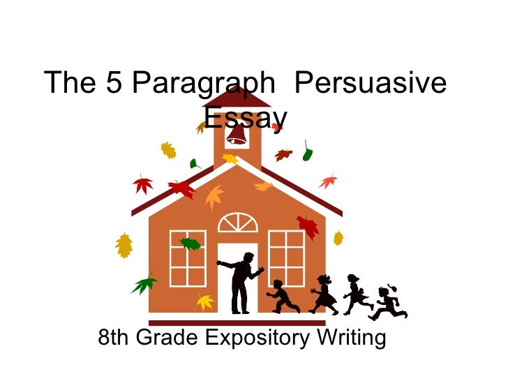 The 5 Paragraph  Persuasive Essay 8th Grade Expository Writing