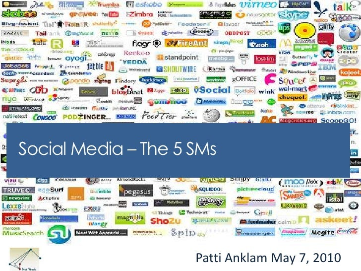 Social Media – The 5 SMs <br />Patti Anklam May 7, 2010<br />