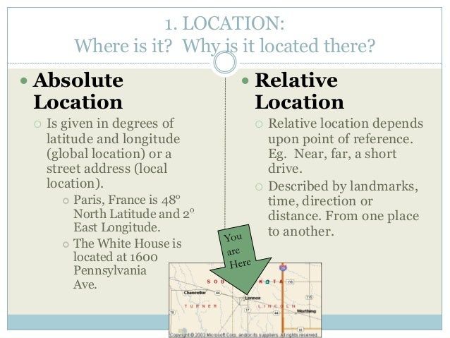 relative location definition