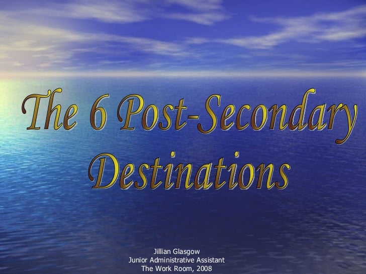 The 6 Desinations