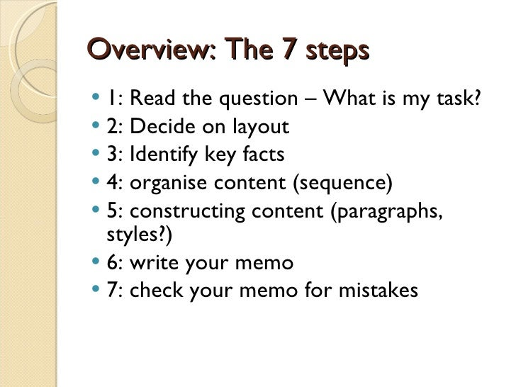 What are the steps in writing