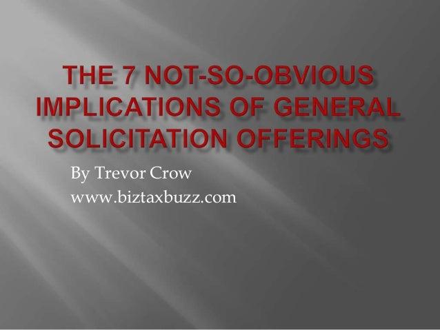 By Trevor Crow www.biztaxbuzz.com