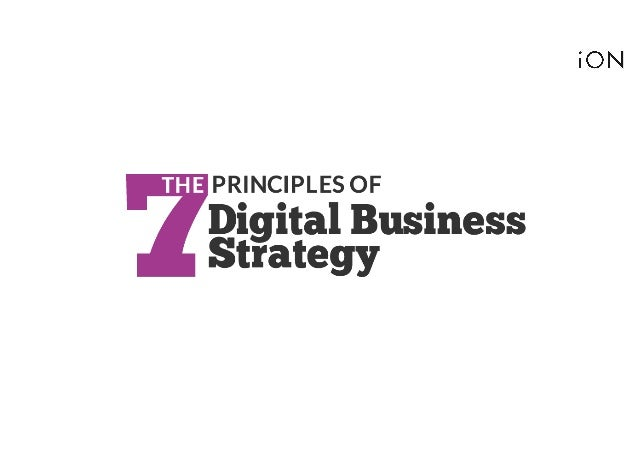 The 7 principles of digital business strategy | Niall McKeown | iON
