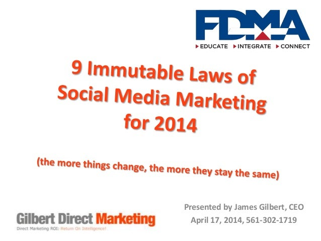 The 9 Immutable Laws of Social Media Marketing 2014