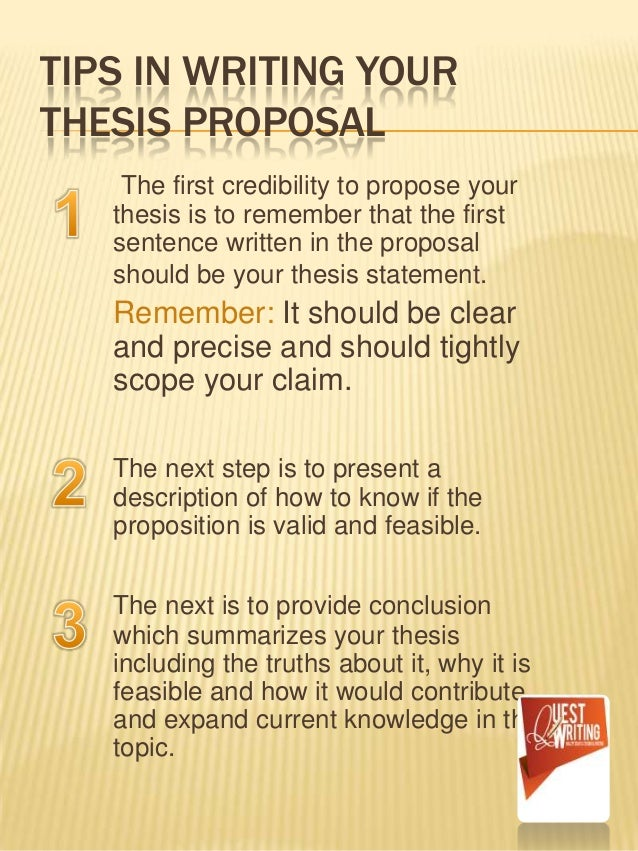 learn how to write a thesis statement