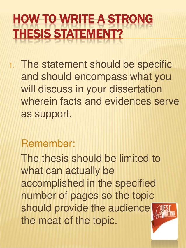 where does the thesis statement go in a research paper Developing a thesis statement for most academic essays a thesis statement is expected or required as the key expression of the essay's purpose  research paper.