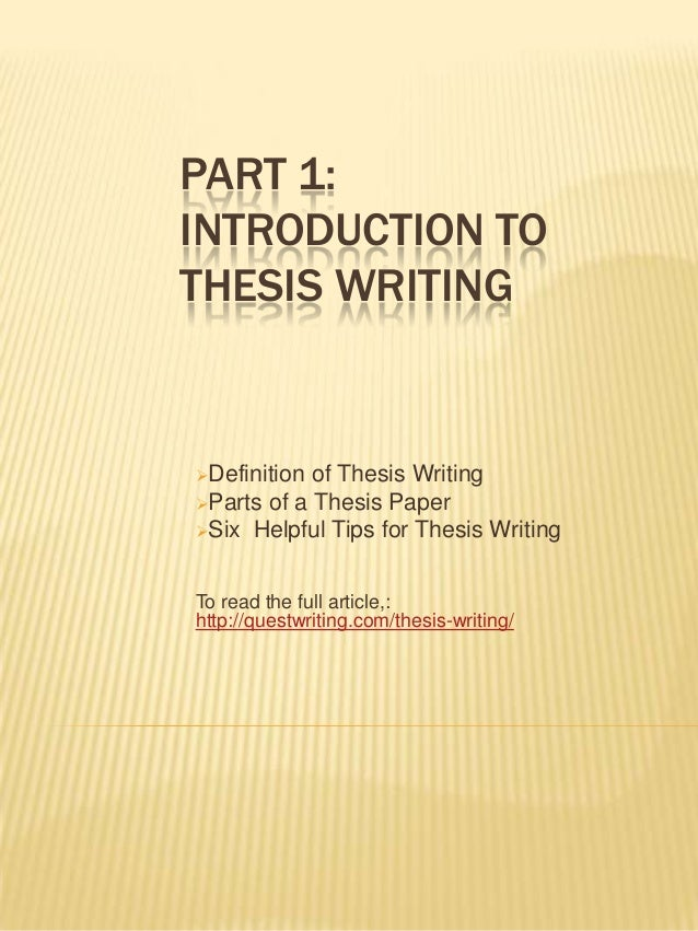 The 3-part THESIS Statement & OUTLINE for Essays