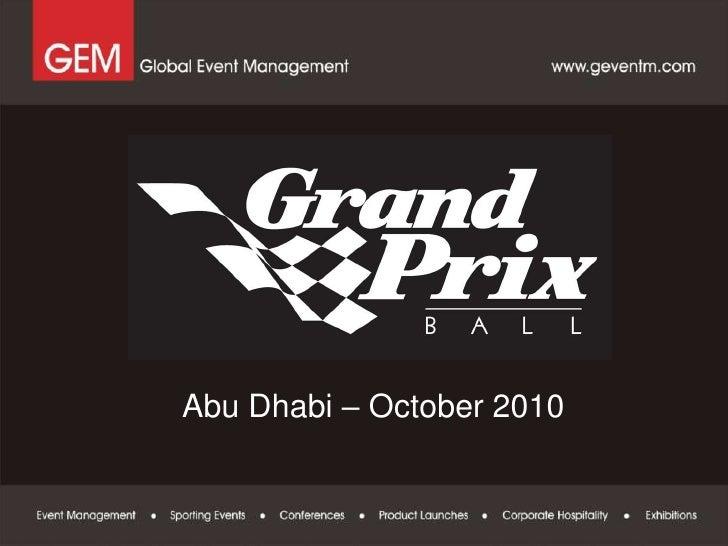 The Abu Dhabi Grand Prix Ball 2010