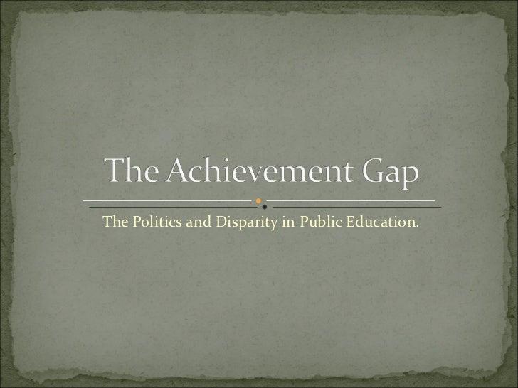 The achievement gap[1]