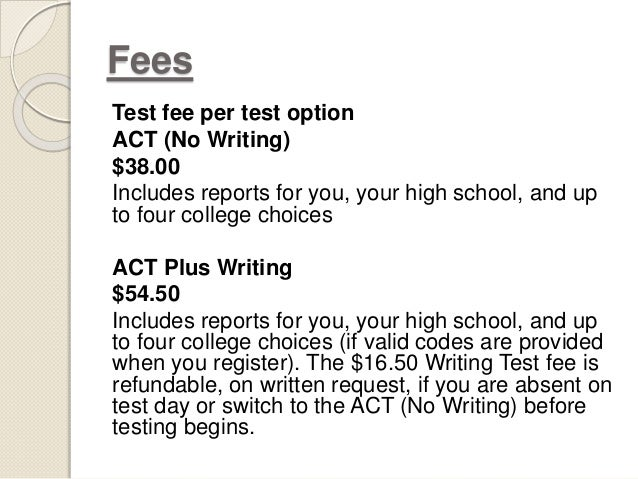 Writing Test on the ACT?