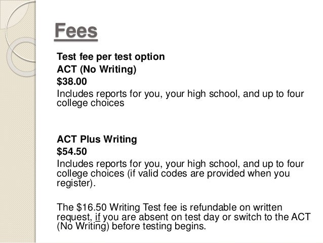 Whats the difference between ACT & ACT Plus Writing?