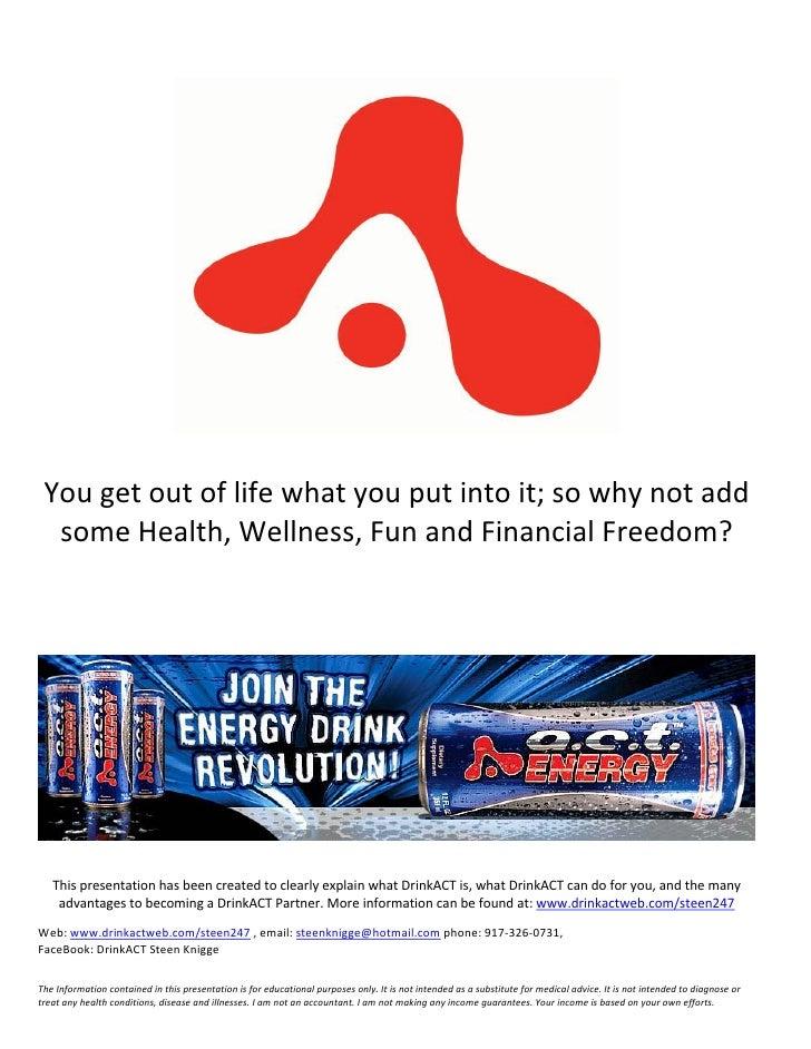 The DrinkACT Advantage