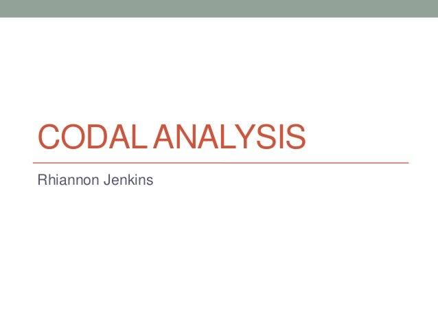 Codal Analysis